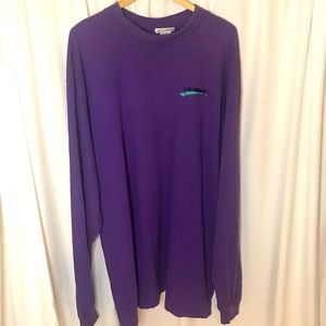 LA GEAR vintage purple retro 90s long sleeve top